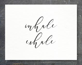 Inhale, Exhale Card | Just Breathe | Thinking of You Card | Sympathy Card | Greeting Card | Cancer Card | Cards for Cancer
