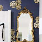 Flower Vinyl Wall Decals Faux Stickers