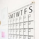 Monthly Calendar Wall Decal