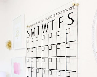 552427e66b1 Monthly wall calendar | Etsy