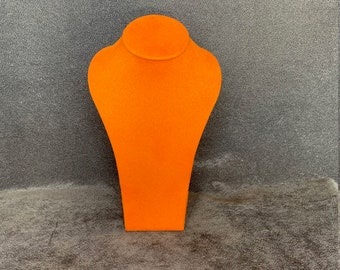 Handmade Medium Display Bust Stand for Necklaces and Pendants (Mandarin Suedette)