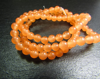 Set of 10 4 mm coral beads