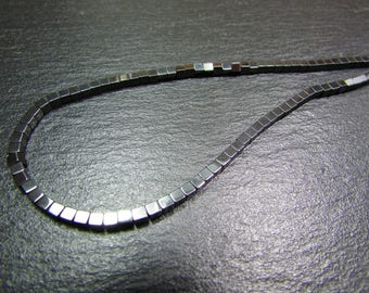 set of 50 Hematite square beads