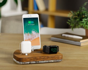 IPhone Apple Docking Station IPhone X Airpods Charging Dock IPhone Apple Watch Dock IPad IPhone Nightstand Charging Dock Airpods Stand