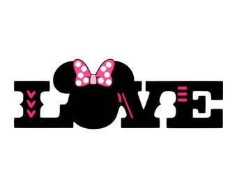 Love Mini, SVG, digital file, cut and print