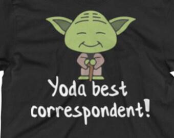Correspondent Shirt - Correspondent Tee Shirt - Correspondent Gifts - Best Yoda Correspondent Tee Shirt -Star Wars Shirt For A Correspondent