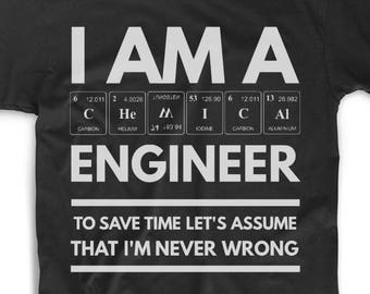 46672470 Chemical Engineer Shirt - Chemical Engineer Tee - Chemical Engineer Gifts -  Chemical Engineer T Shirt - I Am A Chemical Engineer To Save