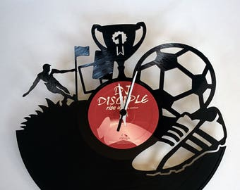 Vinyl Record Clock (Soccer World Cup)