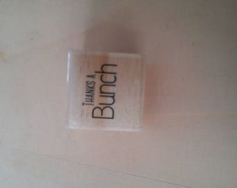 Thanks a bunch logo stamp size 2 cm