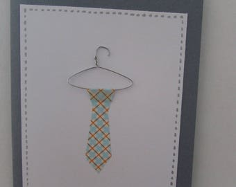 Card father's day-with tie and hanger