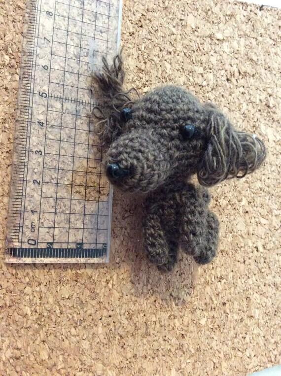 petit chien amigurumi porte clef fait main etsy. Black Bedroom Furniture Sets. Home Design Ideas