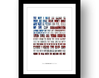 WU-TANG CLAN - Protect Ya Neck - lyrics typography poster art limited edition print song quote