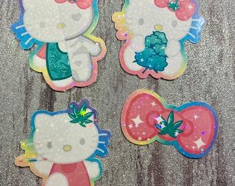 Canna-Kitty sticker pack