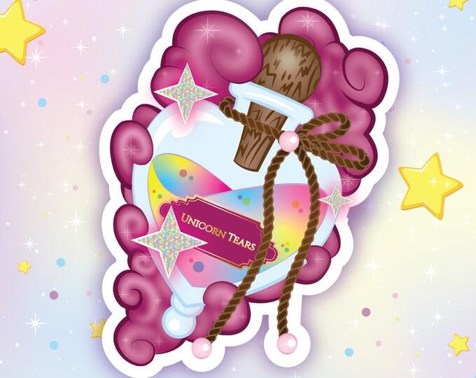 Unicorn tears holo sticker