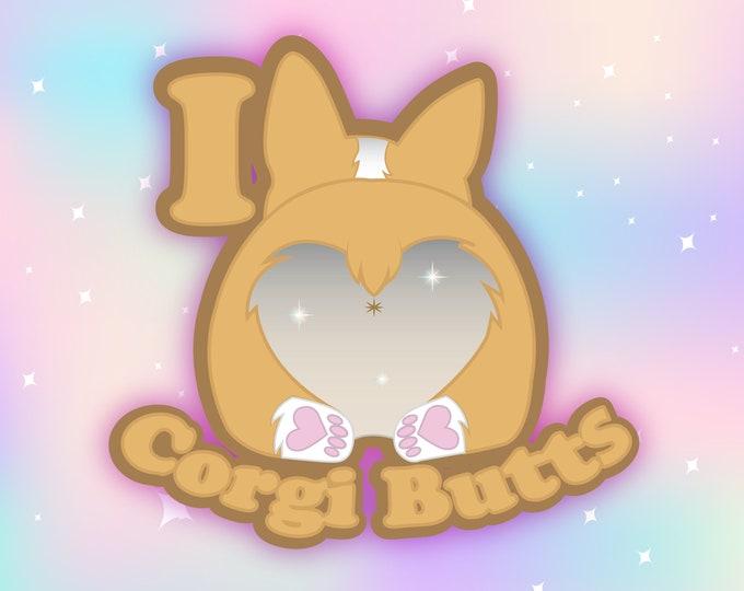 I love corgi butts car decal
