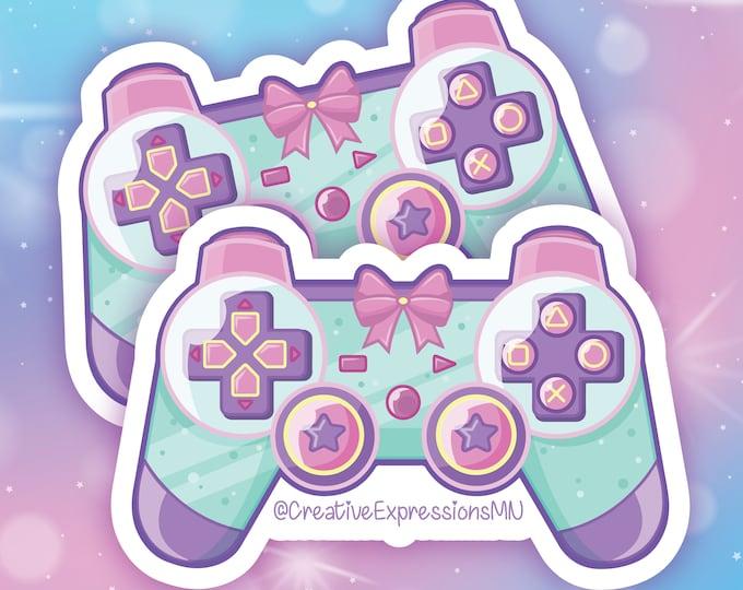 Gamer girl Controller holo sticker