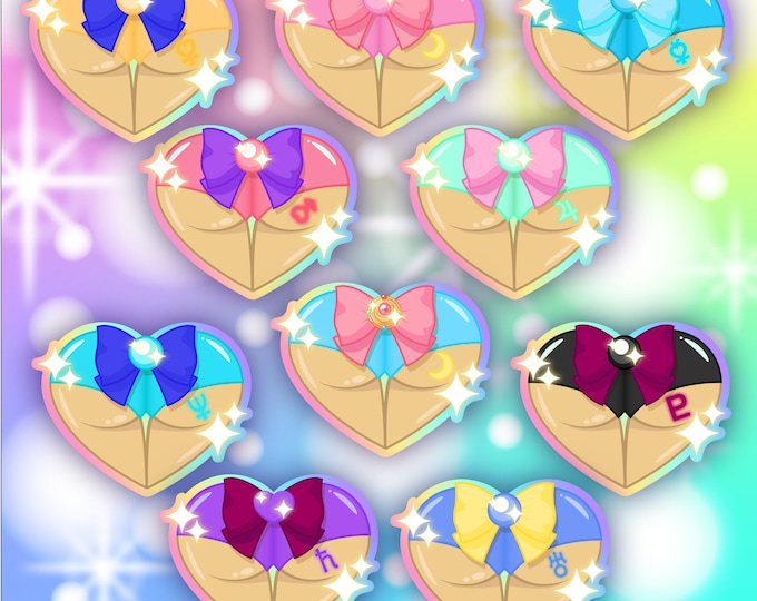 Magical Girl Tooshies Sticker Pack