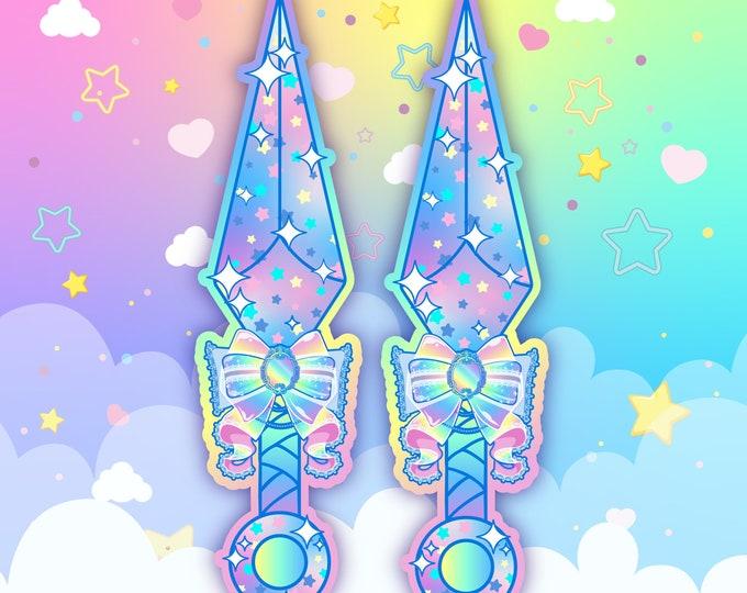 Celestial Dagger Holo Sticker