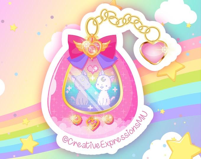 Magical girl tamagotchi holo sticker
