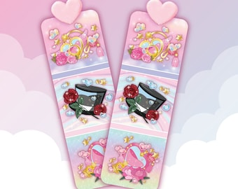 Magical girl perfume bottle bookmark
