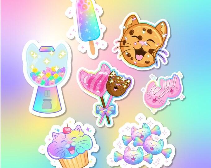 Pastel Kittie Sweets Sticker Pack