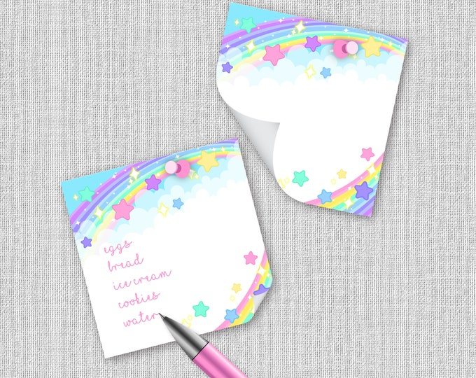 Rainbow Dreams sticky notes