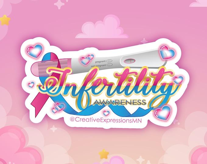 Infertility awareness holo sticker