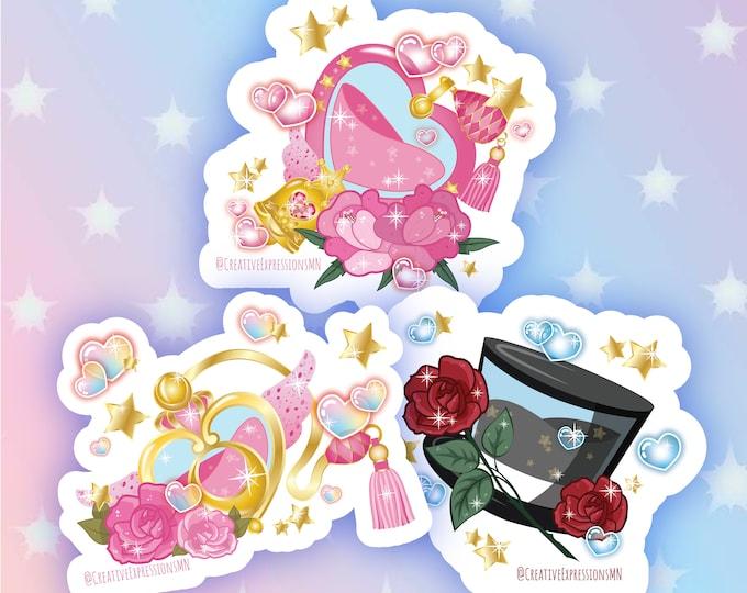 Sailor scout perfume bottle holo stickers