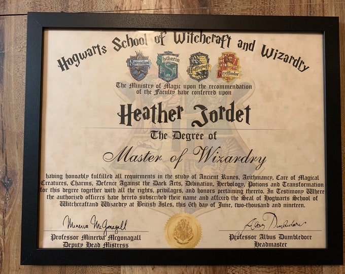 Wizard certificate