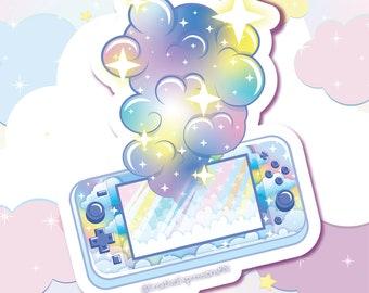 N-switch gamer girl sticker