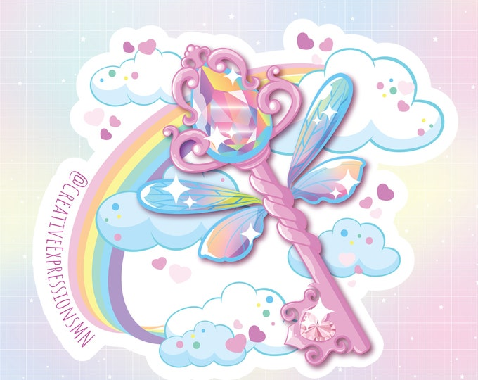 Fairy Key Holo Sticker