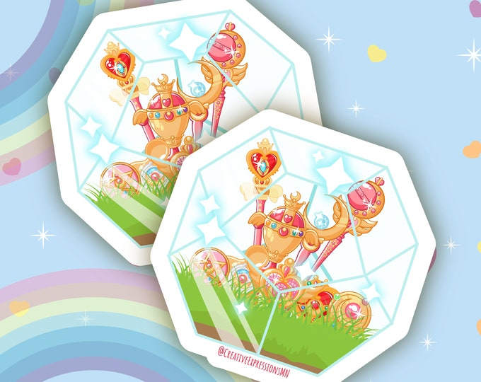 Magical girl terrarium transparent sticker