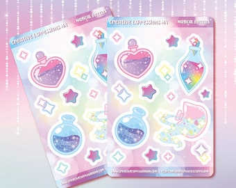 Magical bottles sticker sheet