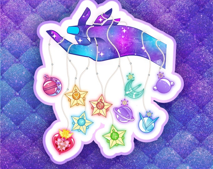 Sailor scout galaxy hand sticker