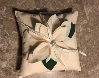 Off White ring bearer pillow