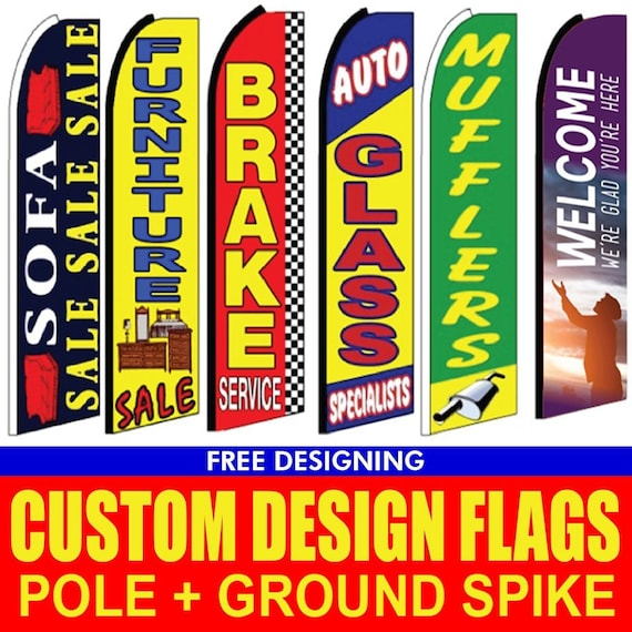 AMERICAN FLAG Tall swooper feather flag banners for business advertising