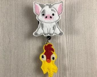 Badge Reel ~ Nurse Badge Reel - Pig Badge Reel - Nurse Badge Reel - Retractable Badge Reel - Lanyard ~ Chicken badge reel ~ Tech ~ Teacher