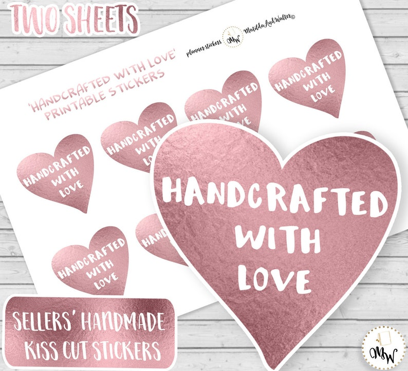 image regarding Printable Heart Shaped Labels identify HANDCRAFTED WITH Delight in Labels Centre Fashioned Rose Red Stickers Stickers for Distributors Handcrafted Labels for On the web Suppliers Craft Fairs