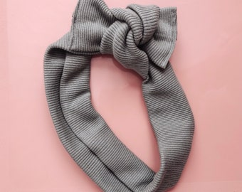 tie on headwrap || herb ribbed