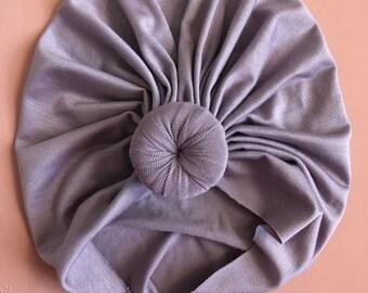 classic knot turban II lilac