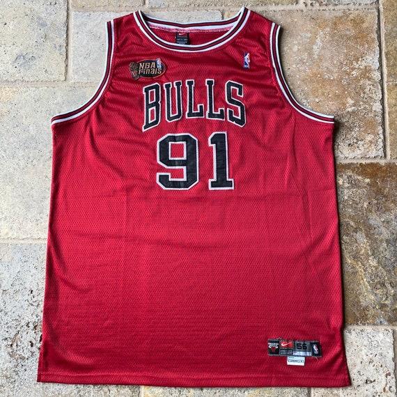 Vintage Nike Team Chicago Bulls Dennis Rodman 91 N