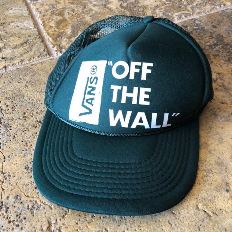 670d9b3f5 Vintage Vans Off the Wall Skateboarding SnapBack Hat