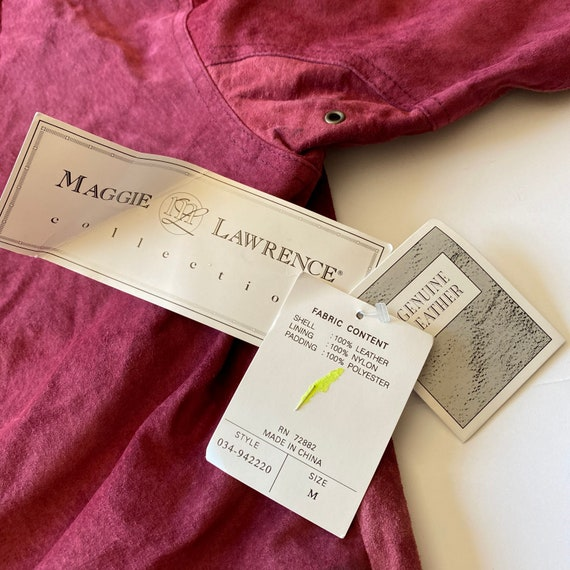 Vintage Maggie Lawrence Red Leather Renaissance M… - image 5