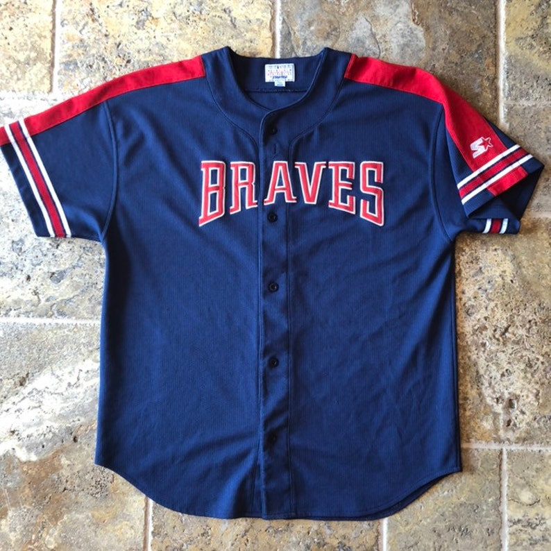 the best attitude b6e09 9230f Atlanta Braves Starter MLB Baseball Jersey