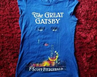 The Great Gatsby womens graphic crewneck short sleeve F. Scott Fitzgerald