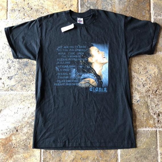"""1998 Alanis Morissette Band T-Shirt NWT """"Supposed"""