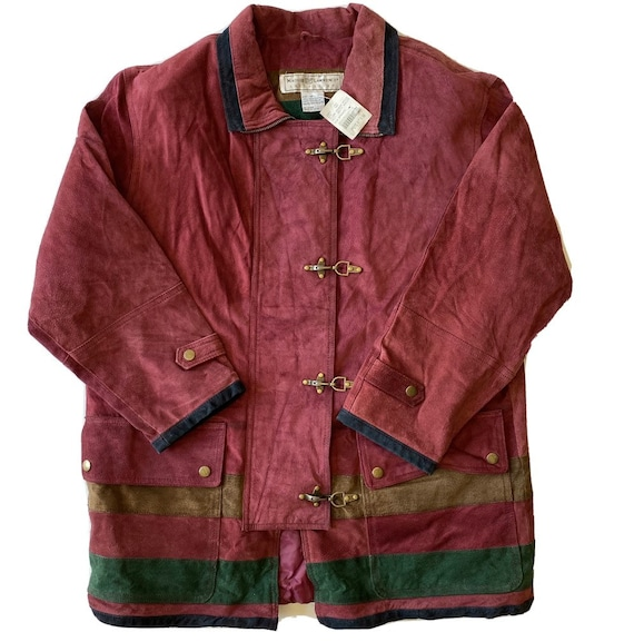 Vintage Maggie Lawrence Red Leather Renaissance M… - image 1