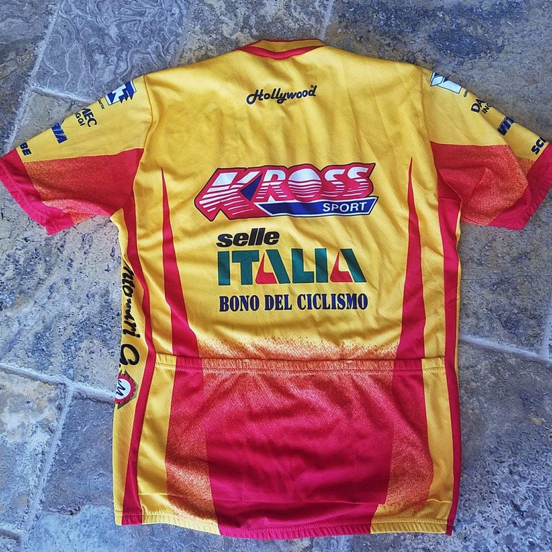ddc0cc508 SANTINI Men s Italian KROSS Hollywood RARE Cycling Jersey