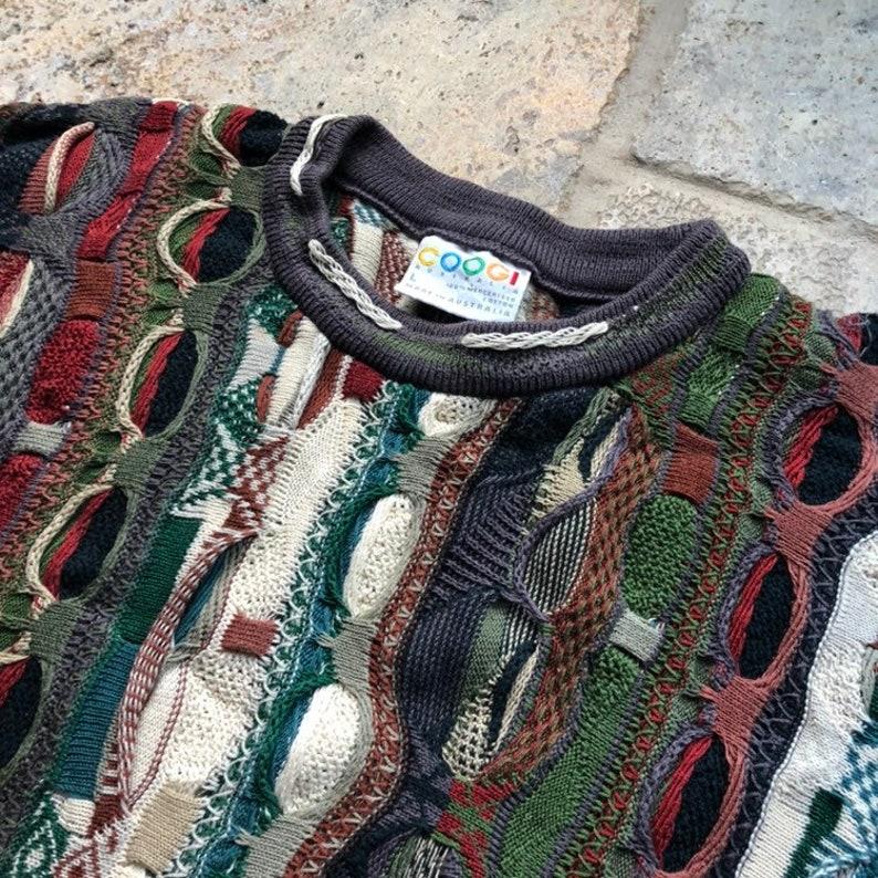 Vintage COOGI Australia Striped Hip Hop Textured Cosby Sweater