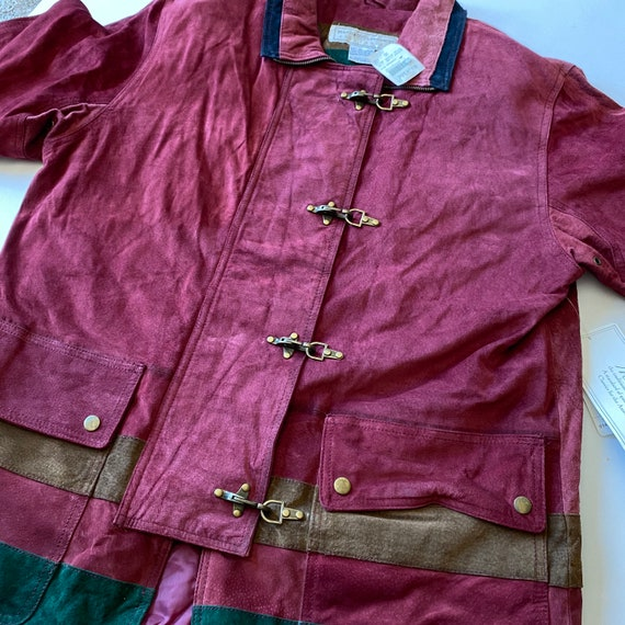 Vintage Maggie Lawrence Red Leather Renaissance M… - image 3